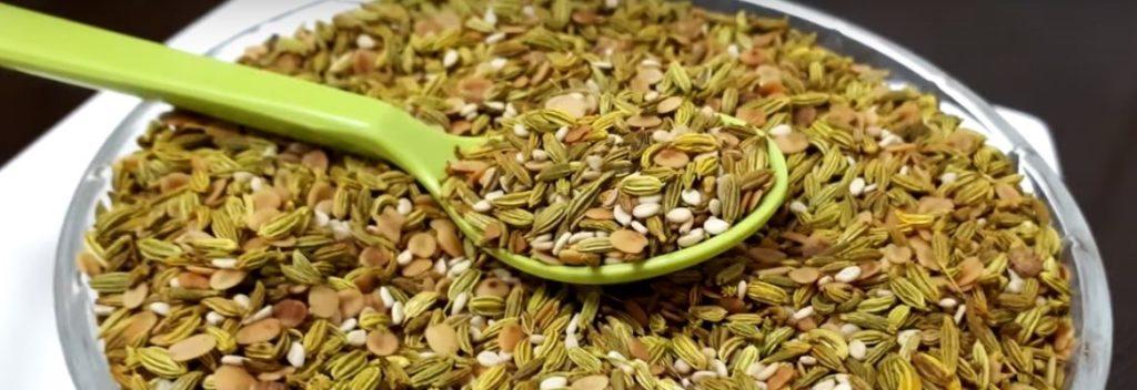 fennel seed, dill, ajwain, sesame seeds, flaxseed, jeshtamadh based mukhwas