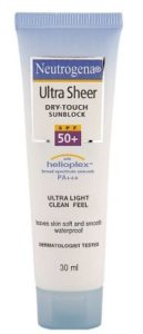 Neutrogena sunscreen for baby in India
