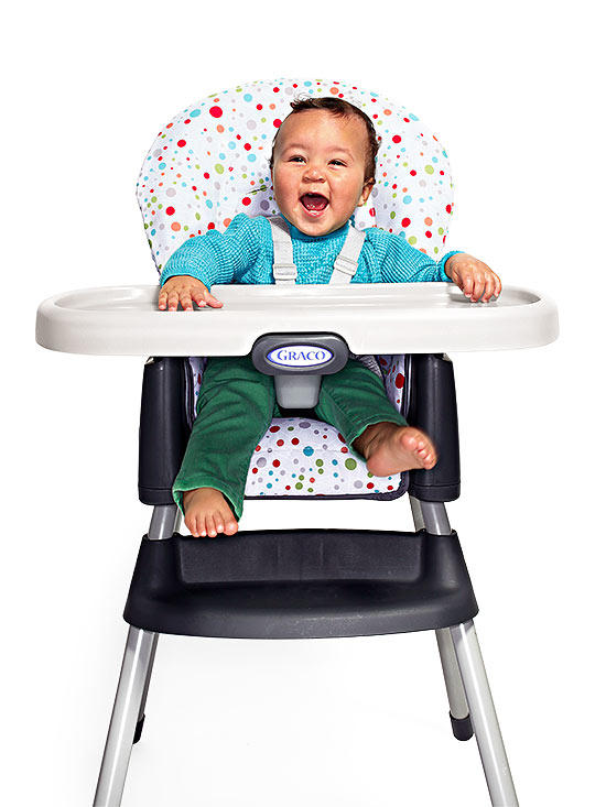Baby high chair for safe and easy meal times