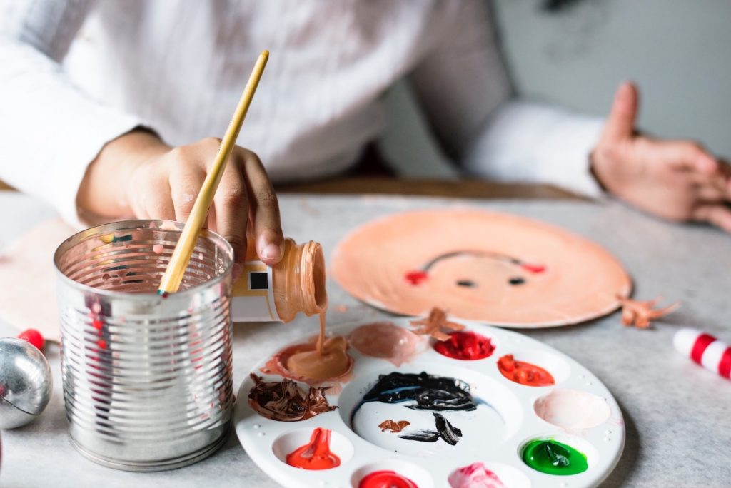 colouring and painting is a fun and creative activity for kids