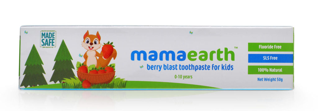 Mama Earth natural ingredient fluoride-free baby toothpaste