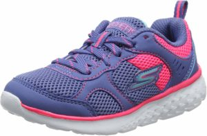 Skechers shoes are made in fabric with rubber sole good for your kids